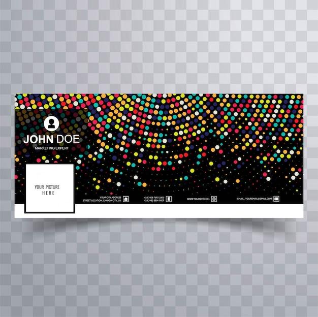 Moderne kleurrijke facebookbannermalplaatje, met gestippeld ontwerp