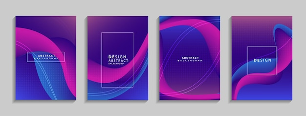 Moderne kleurrijke geometrische abstracte achtergrond vloeibare vormen samenstelling voor banner poster boek