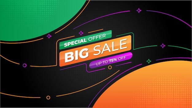 Moderne kleurrijke grote verkoop banner