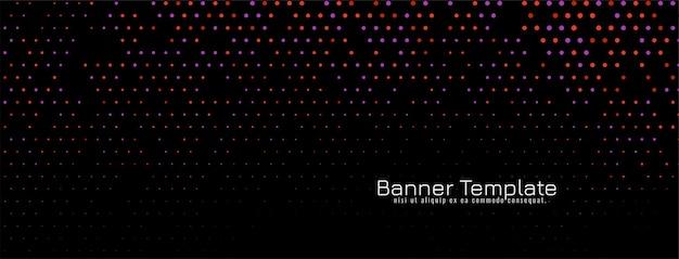 Moderne kleurrijke halftone donkere banner