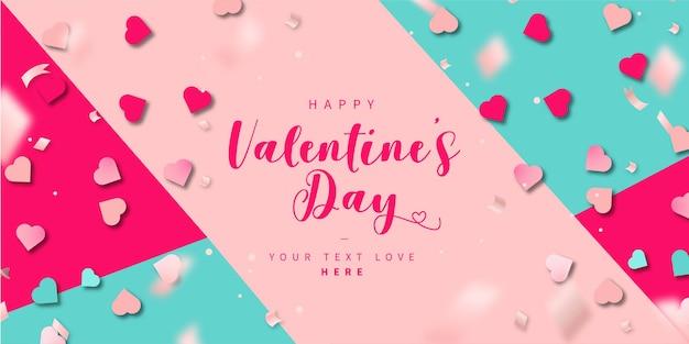 Moderne kleurrijke happy valentine's day achtergrond