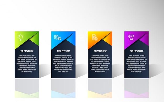 Moderne kleurrijke infographic