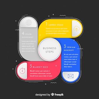 Moderne kleurrijke infographicsstappen