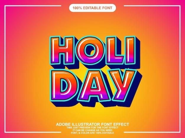 Moderne kleurrijke vetgedrukte bewerkbare typografie grafische stijl