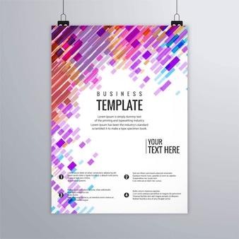 Moderne kleurrijke zakelijke brochure