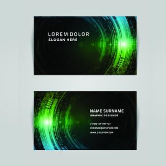 Moderne kleurrijke zakenkaart