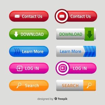 Moderne knoppen voor het web in verloopstijl Premium Vector