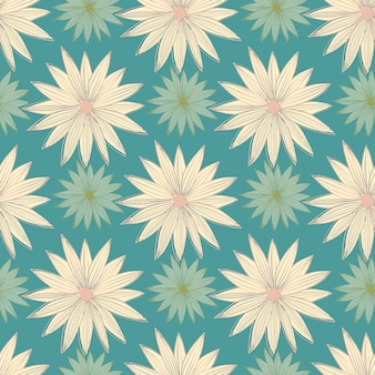 Moderne kunst bud daisy naadloze lijnpatroon. geometrisch bloemenbehang.