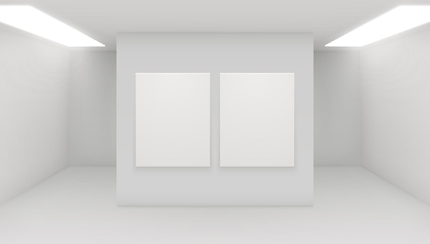 Moderne kunstgalerie interieur