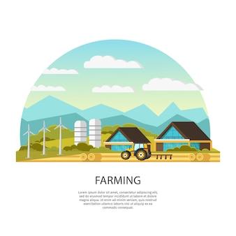 Moderne landbouwsjabloon