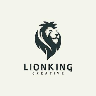 Moderne leeuwenkop silhouet logo