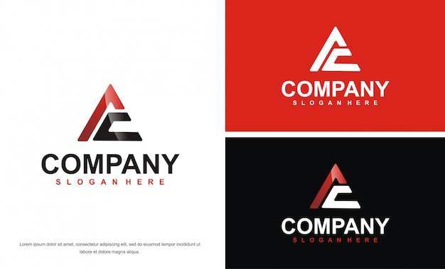 Moderne letter ac logo ontwerpsjabloon