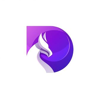 Moderne letter d draakvorm