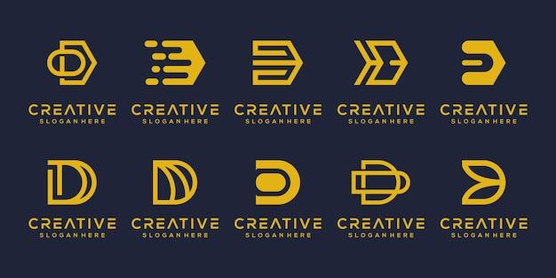 Moderne letter d-logo-sjabloon instellen