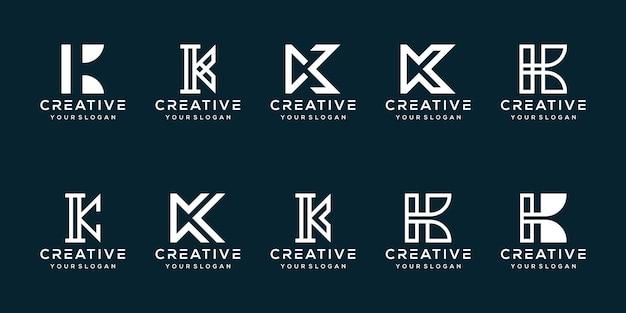 Moderne letter k-logo-sjabloon instellen