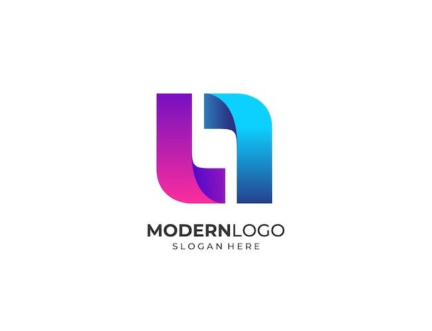 Moderne letter l logo ontwerpsjabloon