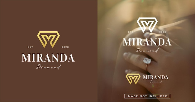 Moderne letter m monogram stijl logo ontwerpsjabloon