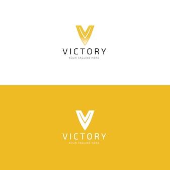 Moderne letter v logo ontwerpsjabloon