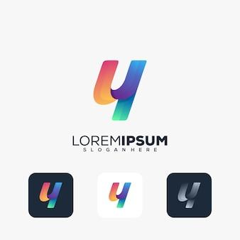 Moderne letter y logo ontwerp