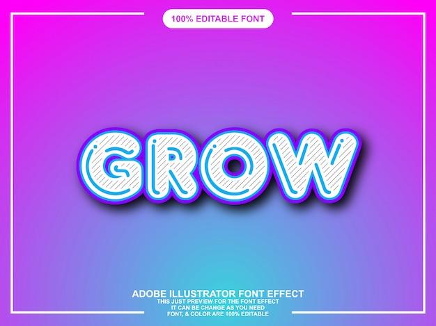 Moderne leuke bewerkbare grafische stijl teksteffect