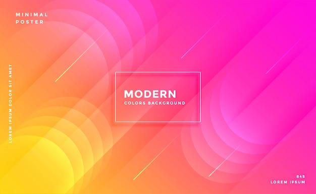 Moderne levendige helder roze en gele kleurrijke achtergrond