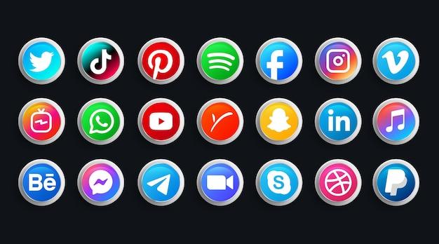 Moderne logo-collecties op sociale media