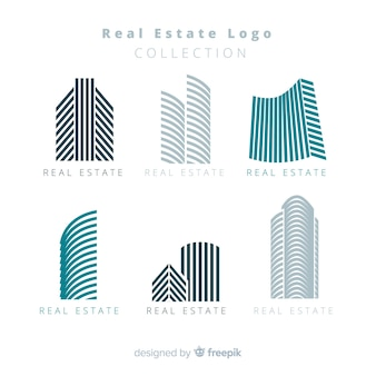 Moderne logo-collectio voor onroerend goed