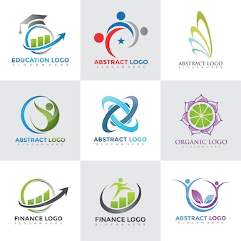 Moderne logo ontwerpsjablonen instellen