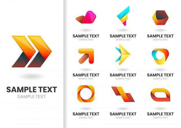 Moderne logo set