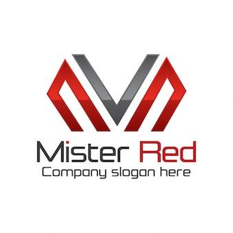 Moderne logo van de eerste m