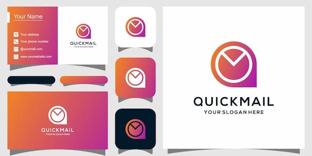Moderne logosjabloon voor mailing, snelle post en visitekaartjes