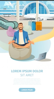 Moderne luchthaven comfortabele lounge vector website