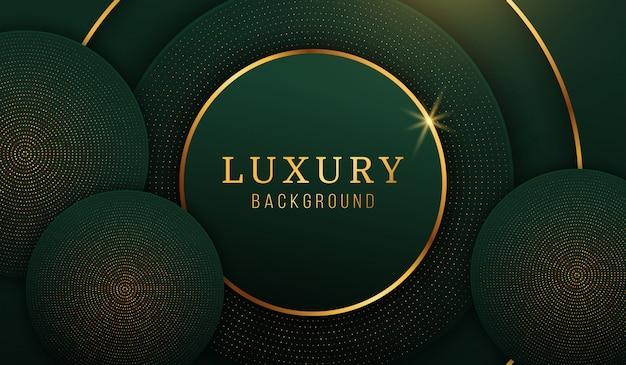 Moderne luxe gouden cirkel achtergrond, abstracte designelementen
