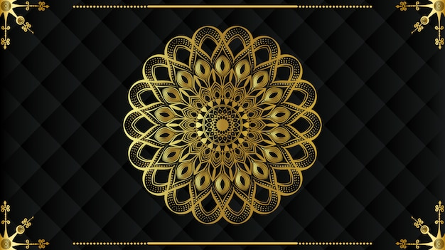 Moderne luxe mandala met gouden arabesque patroon arabische koninklijke islamitische stijl