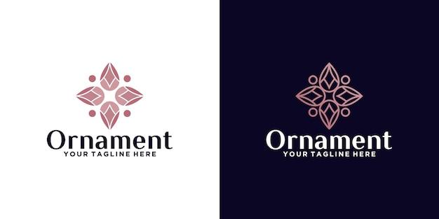 Moderne luxe ornament logo ontwerp inspiratie