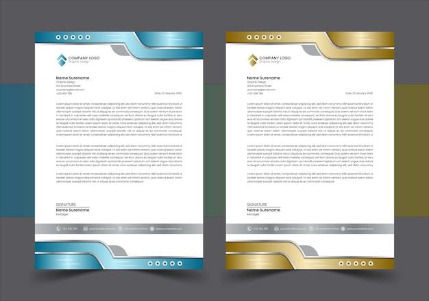 Moderne luxe zakelijke briefpapier sjabloon vector