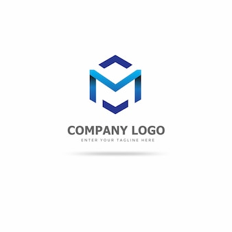 Moderne m logo ontwerpsjabloon