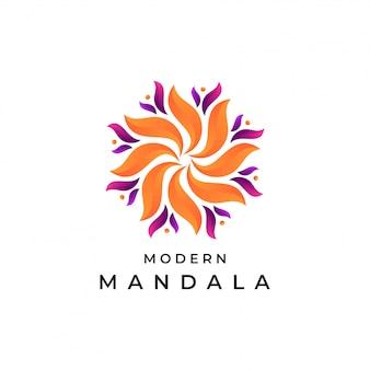 Moderne mandala logo sjabloon