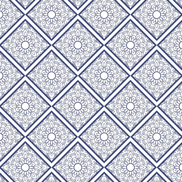 Moderne mandala patroon achtergrond