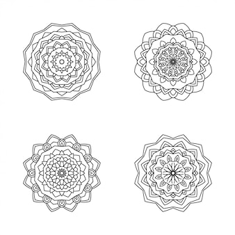 Moderne mandala stijl illustratie