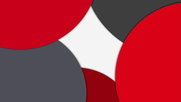 Moderne materiaalontwerpachtergrond van cirkels met schaduwen