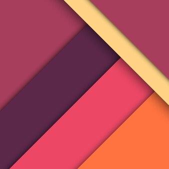 Moderne materiaalontwerpachtergrond van vellen met schaduwen