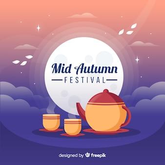 Moderne medio herfst festival achtergrond