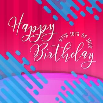 Moderne memphis happy birthday poster achtergrond
