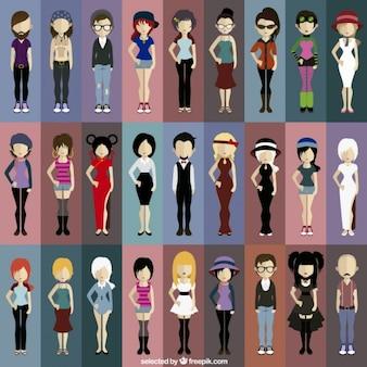 Moderne mensen avatars