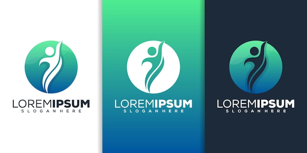 Moderne mensen logo ontwerp