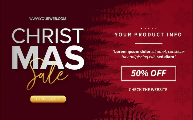 Moderne merry christmas sale met productinfo