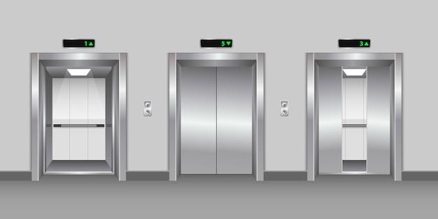Moderne metalen elavator ontwerp illustratie