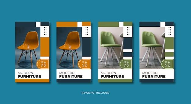 Moderne meubels instagram verhalen sjabloon