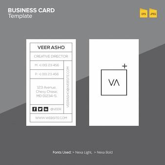 Moderne minimale visitekaartje sjabloon